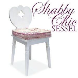 sessel wei shabby chic mit kleeblatt ausnehmung holz bauernsessel landhausm bel ebay. Black Bedroom Furniture Sets. Home Design Ideas