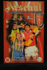 PROGRAMME-PREM-Arsenal-vs-Derby-County-7-Nov-1996
