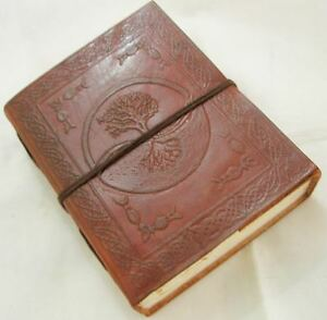 Tree-of-Life-Handmade-Paper-Engraved-Leather-bound-Journal-Blank-Diary-Notebook