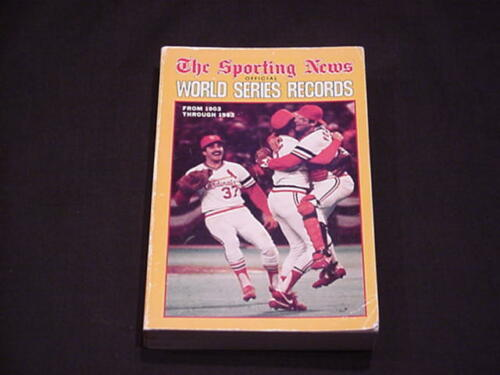 1983 TSN Sporting News World Series Records - Baseball