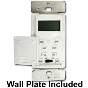 7-Day-In-Wall-Programmable-Digital-Timer-Security-Light-Porch-Light-Timer-Switch