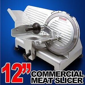 New-MTN-12-Commercial-Restaurant-420W-Electric-Frozen-Meat-Deli-Food-Slicer