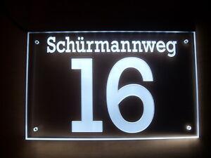 Hausnummer Beleuchtet hausnummer aus acrylglas nach kundenwunsch gefertigt led