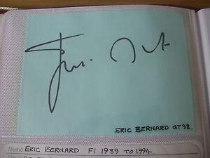 Eric-BERNARD-Formula-I-F1-Driver-89-94-Original-Hand-Signed-Autograph-98