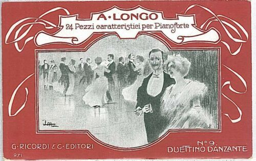 VINTAGE POSTCARD ADVERTISING ITALY MUSIC DANCING