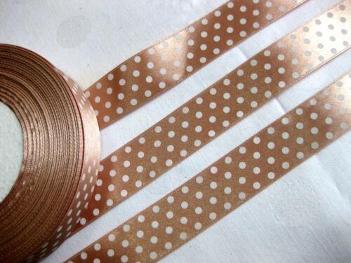 Stb4 3m Satinband //0,66€ pro Meter// mit Punkt-Design,25mm breit,viele Farben