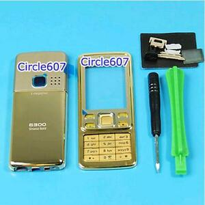 Gold-Housing-Metal-Cover-Faceplate-Case-For-NOKIA-6300
