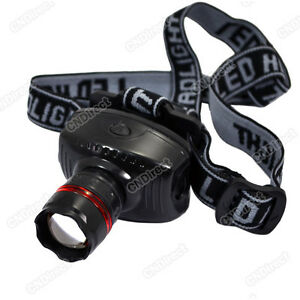 New-Camping-Night-Outdoor-LED-High-Power-Zoom-Headlamp-Adjustable-Strap-Durable