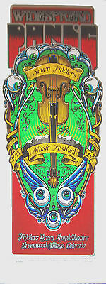 WIDESPREAD PANIC FIDDLERS GREEN 02 COLORADO CONCERT POSTER S/N RARE!!