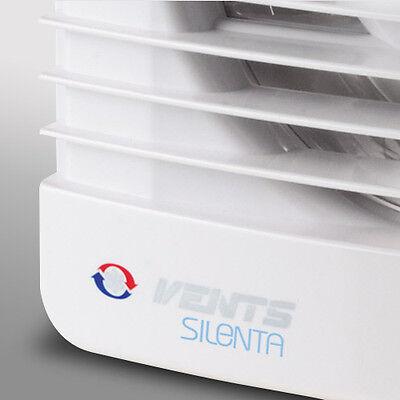 """4"""" Humidity Extractor Fan Silent Low Noise Quiet Bathroom Shower Wetroom Toilet"""