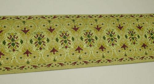 "2"" (50mm) Ornate Jacquard Ribbon Trim x 1 yd ( Various Colours)"