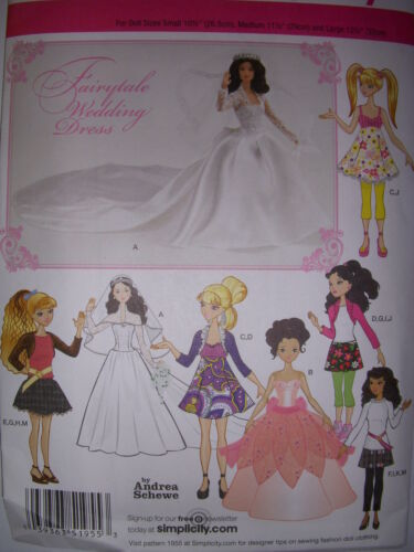 """Sewing Patterns Barbie 11.5/"""" Doll clothes Gowns Dresses Outfits"""