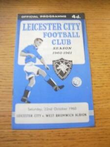 22101960 Leicester City v West Bromwich Albion  Slight Rusty Staples No obv - Birmingham, United Kingdom - Returns accepted within 30 days after the item is delivered, if goods not as described. Buyer assumes responibilty for return proof of postage and costs. Most purchases from business sellers are protected by the Consumer Contr - Birmingham, United Kingdom