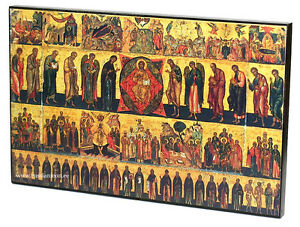 BIG-RARE-RUSSIAN-ORTHODOX-ICON-ALL-THE-CHURCH-WITH-YOU-STYLE-XVI-cent-WOOD