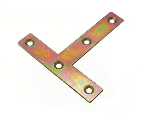 4 OF FLAT MENDING REPAIR CONNECTOR JOINING T PLATE YZP CHOOSE 75MM OR 100MM