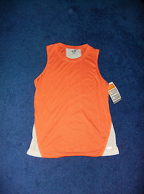 ORANGE CHAMPION WORKOUT YOGA TANK TOP SHIRT MISSES SMALL GIRLS 14 16 XLARGE NWT