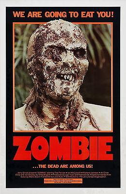 ZOMBI 2 aka Zombie Movie Poster RARE Zombies Lucio Fulci We are Going to Eat You