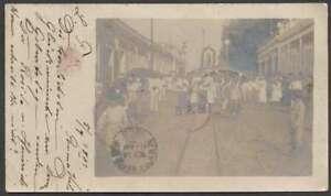 R Photo Puerto Rico Mayaguez To Guatemala 1903 Postcard RRR L@@K