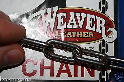 Biker Necklace Stainless Steel Chain 1/8 inch links DOG RUN Bike Lock Security