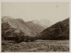 Albumen Print Sinai Mount Serbal 1860s Frank Mason Good Photograph
