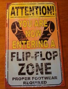 FLIP-FLOP-ZONE-Hawaiian-Tiki-Cantina-Tropical-Beach-Bar-Pool-Decor-Sign-NEW