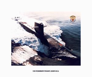 Uss woodrow wilson ssbn 624 boomer us naval submarine usn navy ebay