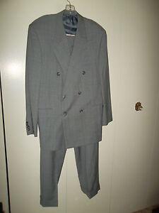 Hickey-Freeman-Neiman-Marcus-Gray-Pinstripe-Suit-44L-New