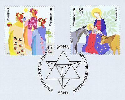 Brd 2007: Weihnachtsmarken Nr 2626+2627! Bonner Ersttags-sonderstempel! 1a 1906