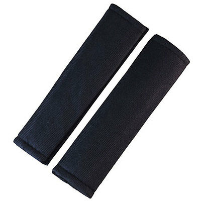 Black Velcro Cushioned Car & Van Interior Seat Belt Harness Pads Neck Protectors