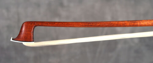 A very rare, fine French certified violin bow by J.D. Adam, ca. 1820, NICE!