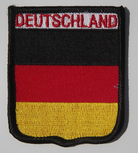 DEUTSCHLAND - GERMANY - GERMAN - 75MM X 63MM NATIONAL EMBROIDERED PATCH BADGE