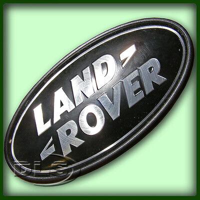 RANGE ROVER L322 - Black on Silver Land Rover Badge  (DAH500330)