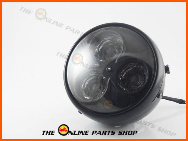 """Universal Motorbike 7"""" Matt Black LED Headlight Fits Yamaha VMX / XJR 1200 1300"""