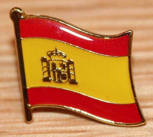 SPAIN Spanish Coat of Arms Country Metal Flag Lapel Pin Badge