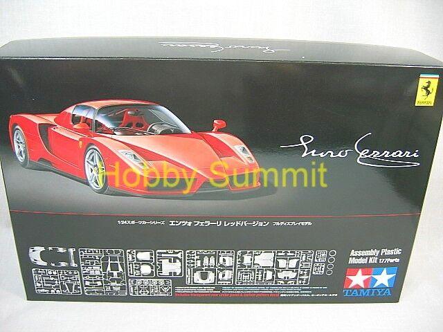 Tamiya 1/24   ENZO FERRARI  Rosso Corsa  in  Red  Plastic Model  Kit !!  # 24302