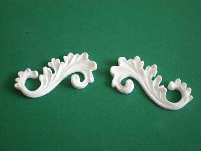 Decorative Resin Moulding - 2 Small Fancy Scrolls (Pair)