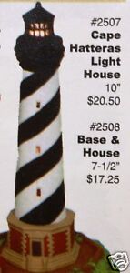 Ceramic Bisque Small Lighthouse Desk Nowell Mold 2507 U-Paint Ready To Paint