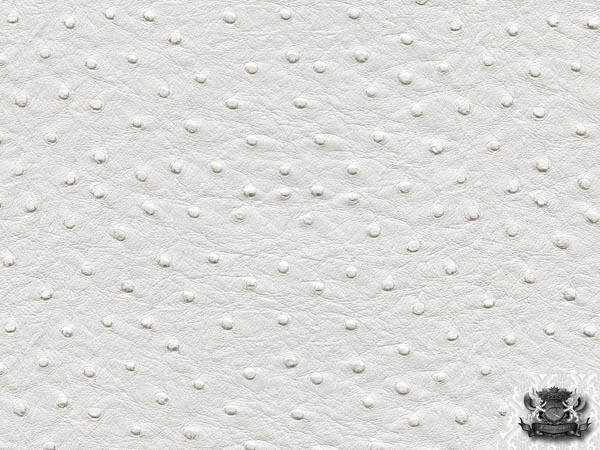 Vinyl Ostrich WHITE Upholstery Fabric BTY