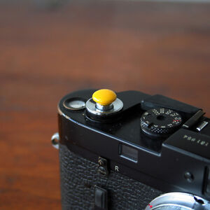 Yellow Small Soft Release Button for Leica M3 M6 MP M8 M9 Fuji X100 Nikon Canon