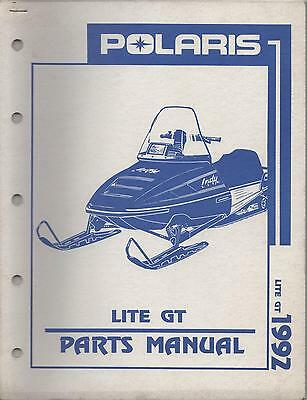 1992 POLARIS SNOWMOBILE LITE GT PARTS MANUAL | eBay