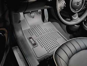 MINI-Cooper-All-Weather-Rubber-Floor-Liners-Front-Set-Black-Mats-New-OEM