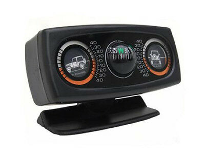 Jeep Truck Sand Rail Universal Off Road Clinometer with Dual Angles and Compass