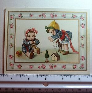 #909- Vintage Unused German Greeting Postcard by Jason Freixs Children Playing