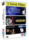 Conan The Barbarian/Legend/Ladyhawke (DVD, 2007, 3-Disc Set, Box Set)