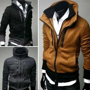 NWT-Mens-Slim-Sexy-Top-Designed-Hoody-Jacket-M-L-XL-XXL-3color-E32