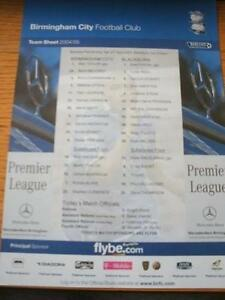 30042005 Colour Teamsheet Birmingham City v Blackburn Rovers  No obvious fau - <span itemprop=availableAtOrFrom>Birmingham, United Kingdom</span> - Returns accepted within 30 days after the item is delivered, if goods not as described. Buyer assumes responibilty for return proof of postage and costs. Most purchases from business s - Birmingham, United Kingdom