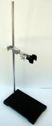 5 X 8 CAST IRON Lab Support Stand + Burette Clamp. New Laboratory Ring Stand