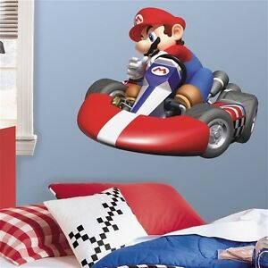 MARIO-Kart-WII-wall-stickers-MURAL-27x32-inches-Nintendo-decals-room-decor
