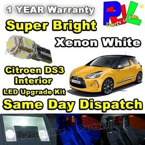 citroen ds3 led interior number plate lighting upgrade kit xenon white ebay. Black Bedroom Furniture Sets. Home Design Ideas