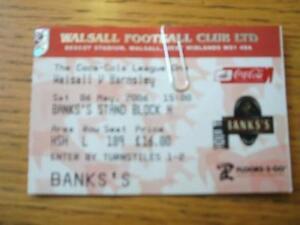 06-05-2006-Ticket-Walsall-v-Barnsley-Folded-No-obv
